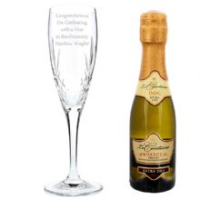 Crystal and Miniature Prosecco Set